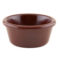 GET S-660-BR 6 oz. Smooth Chocolate Melamine Ramekin - 12/Pack