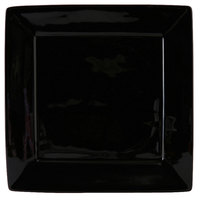 Tuxton BBH-1016 DuraTux 10 1/8 inch x 10 1/8 inch Black Square China Plate - 12/Case