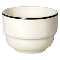 Homer Laughlin Lydia Green 7.5 oz. Off White China Bouillon - 36 / Case