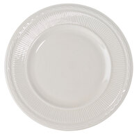 10 1/4 inch Ivory (American White) Embossed Rim China Plate   - 12/Case