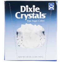 Dixie Crystals Fine Sugar Cubes - 1 Lb. Box - 12 / Case