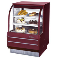 Turbo Air TCGB-36-2 Red 36 1/2 inch Curved Glass Refrigerated Bakery Display Case - 10.9 Cu. Ft.