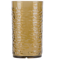 Carlisle 551218 Pebble Optic 12 oz. Smoke SAN Plastic Tumbler - 24/Case
