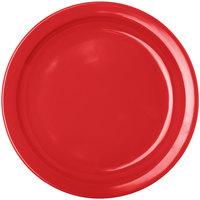 Carlisle KL20105 Kingline 7 1/4 inch Red Sandwich Plate   - 48/Case