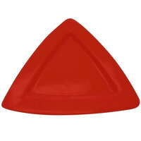 CAC TRG-12RED Festiware Triangle Deep Dinner Plate 11 1/2 inch - Red - 12/Case