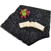 Cal-Mil 125-31 Black Ice 15 inch x 15 inch Simulated X-Stone Acrylic Tray