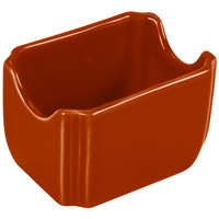 Homer Laughlin 479334 Fiesta Paprika 3 1/2 inch x 2 3/8 inch Sugar Caddy - 12 / Case