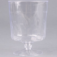 Fineline Flairware 2208 8 oz. Clear Plastic Wine Goblet - 1 Piece 10 / Pack