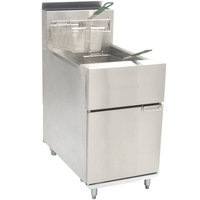 Dean SR62G Super Runner Natural Gas Floor Fryer 60-75 lb.