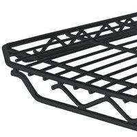 Metro 1436Q-DBM qwikSLOT Black Matte Wire Shelf - 14 inch x 36 inch