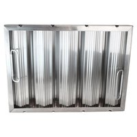 All Points 26-3891 12 inch x 16 inch x 2 inch Stainless Steel Hood Filter - Ridged Baffles