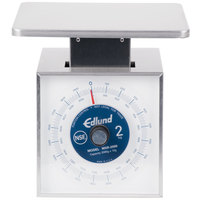 Edlund MSR-2000 OP 2000 Gram Stainless Steel Metric Portion Scale with Oversized 7 inch x 8 3/4 inch Platform