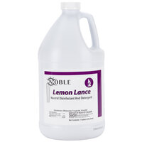 Noble Chemical 1 Gallon Lemon Lance Lemon Disinfectant & Detergent Cleaner - Ecolab® 14522 Alternative - 4 / Case