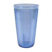 Carlisle 401654 Blue Crystalon SAN Tumbler 16 oz. - 12/Case