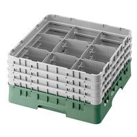 Cambro 9S434119 Sherwood Green Camrack 9 Compartment 5 1/4 inch Glass Rack