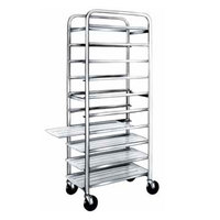 Winholt AL-1210 End Load Aluminum Platter Cart - Ten 12 inch Trays