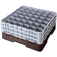 Cambro 36S534167 Brown Camrack 36 Compartment 6 1/8 inch Glass Rack