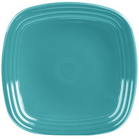 Homer Laughlin 920107 Fiesta Turquoise 9 1/4 inch Square Luncheon Plate - 12/Case