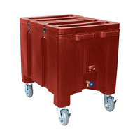 Red Ice Caddy 200 lb. Mobile Ice Bin / Beverage Merchandiser