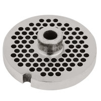 Avantco MG1243 #12 Stainless Steel Grinder Plate for MG12 Meat Grinder - 1/8 inch