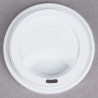 Choice 10, 12, 16, and 20 oz. White Hot Paper Cup Travel Lid - 100 / Pack