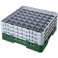 Cambro 49S434119 Sherwood Green Camrack 49 Compartment 5 1/4 inch Glass Rack