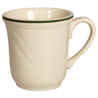 Homer Laughlin Lydia Green 7.25 oz. Off White China Cup - 36 / Case