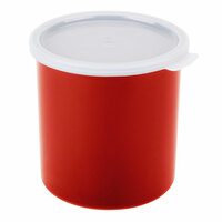 Cambro CP12416 Cranberry Round Crock with Lid 1.2 Quart - 12/Case