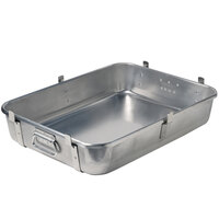 Vollrath 68362 Wear-Ever 29.5 Qt. Aluminum Roast Pan Bottom with Straps and Handles (Bottom) - 24 inch x 18 inch x 4 3/4 inch