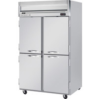 Beverage Air HR2-1HS 2 Section Solid Half Door Reach-In Refrigerator - 49 cu. ft., Stainless Steel Front, Gray Exterior