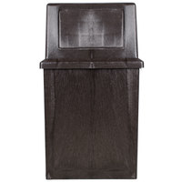 Continental 5750BN King Kan 50 Gallon Brown Waste Receptacle with Hinged Lid