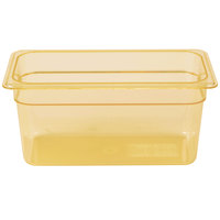 Carlisle 3086213 StorPlus 1/3 Size Amber High Heat Food Pan - 6 inch Deep