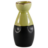 CAC 666-WP-G Japanese Style 6 oz. China Sake Bottle - Golden Green - 36/Case