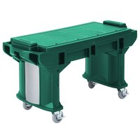Cambro VBRT5519 Green 5' Versa Work Table with Standard Casters