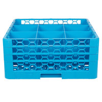 Carlisle RG9-314 OptiClean 9 Compartment Glass Rack with 3 Extenders