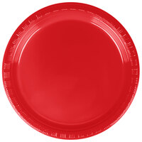 Creative Converting 28103111B 7 inch Classic Red Plastic Lunch Plate - 600 / Case