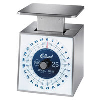 Edlund SR-25 Premier Series 25 lb. Mechanical Portion Scale with 6 inch x 6 3/4 inch Platform