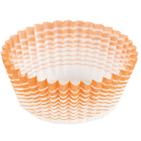 Ateco 6406 1 inch x 3/4 inch Orange Striped Baking Cups (August Thomsen) - 200/Box