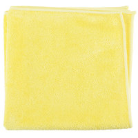 Unger MB40J SmartColor MicroWipe 16 inch x 16 inch Yellow Medium-Duty Microfiber Cleaning Cloth