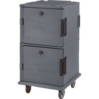 Cambro UPC1600SP191 Granite Gray Camcart Ultra Pan Carrier - Front Load Tamper Resistant