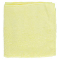 16 inch x 16 inch Yellow Microfiber Cleaning Cloth