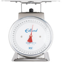 Edlund HD-50 50 lb. Heavy-Duty Receiving Scale with 10 3/4 inch x 9 1/2 inch Platform