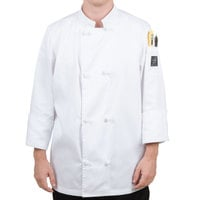 Chef Revival J050-4X Size 60 (4X) Customizable Double Breasted Chef Coat with Knot Cloth Buttons - Poly-Cotton Blend
