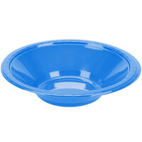 Creative Converting 28145051 12 oz. True Blue Plastic Bowl - 240/Case