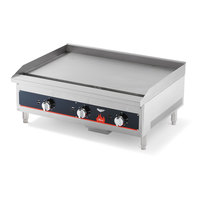 Vollrath 40723 Cayenne 36 inch Flat Top Gas Countertop Griddle - Thermostatic Control