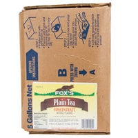 Fox's Bag In Box Unsweetened Tea Syrup - 5 Gallon