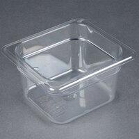 Carlisle 3068407 StorPlus 1/6 Size 4 inch Deep Clear Food Pan