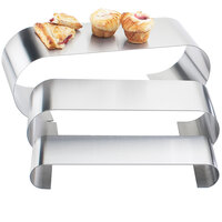 Cal-Mil 1433-3-55 Large Stainless Steel Curl Riser - 18 inch x 6 inch x 6 inch