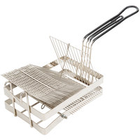 9 3/4 inch x 6 1/4 inch x 7 inch Tostada Frying Basket