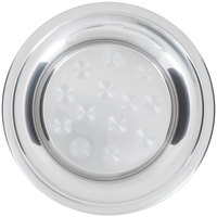 10 inch Stainless Steel Serving / Display Tray with Swirl Pattern - Wide Rim